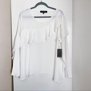 🍂 New! Eloquii White Flowy Blouse